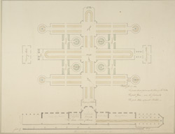 [Plan of the Tables in the Temporary Rooms, Carlton House]